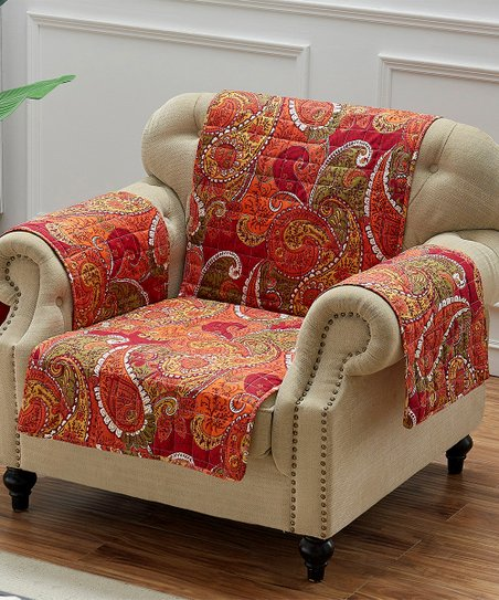 Cool Greenland Home Fashions Cinnamon Paisley Tivoli Arm Chair Gmtry Best Dining Table And Chair Ideas Images Gmtryco