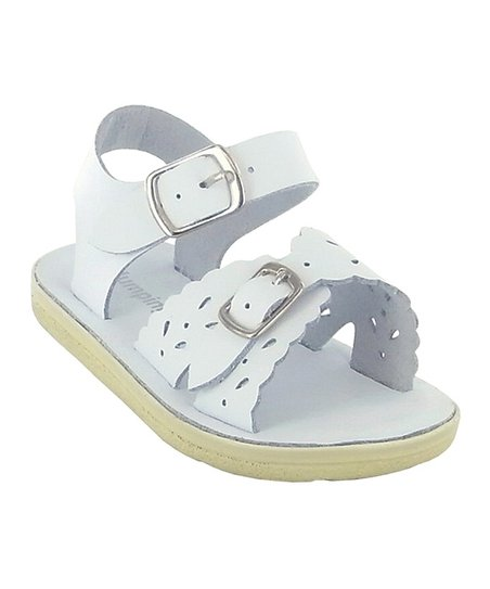 fd21afe9a4d07 love this product White Sunrise Leather Laser-Cut Sandal