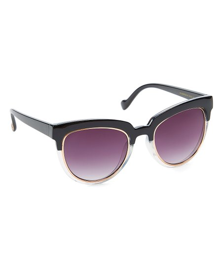 d22b2e9150 Jessica Simpson Collection Black Fade Cat-Eye Sunglasses