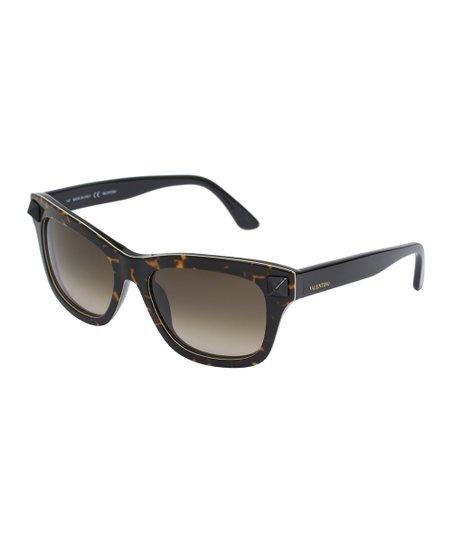 321071ce794 Valentino Black   Green Square Sunglasses
