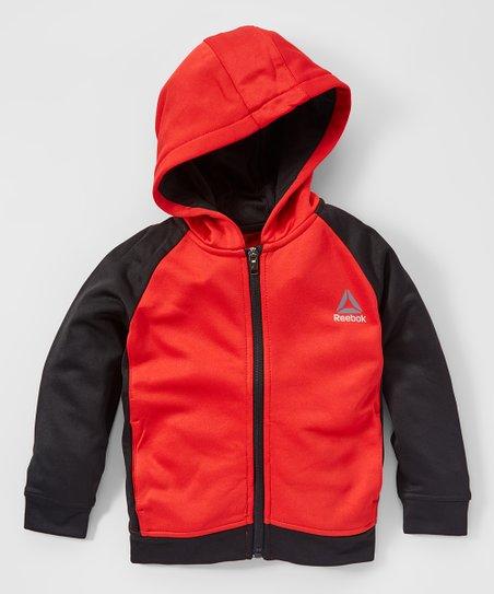 bdec9988 Reebok Haute Red Warm Up Zip-Up Hoodie - Boys