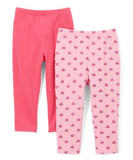 379eddf6d love this product Pink & Glitter Hearts Leggings Set - Infant