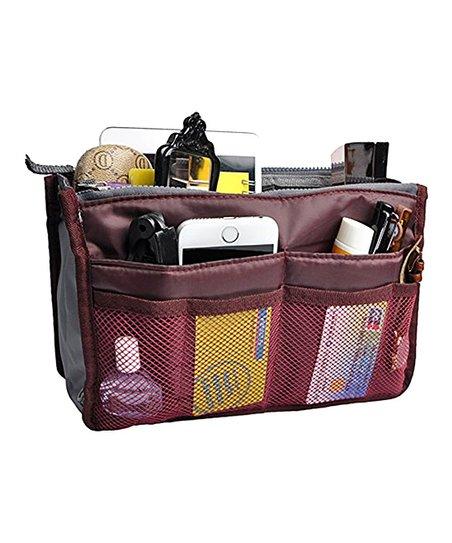 d5564a6999af My Makeup Brush Set Wine Red Slim Bag-in-Bag Organizer