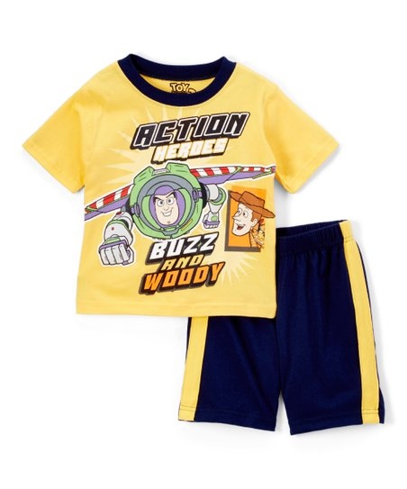 6b69898c2f8 love this product Toy Story Yellow  Buzz and Woody  Tee   Shorts - Toddler
