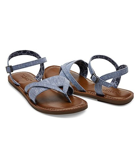 61a20988a3e TOMS Blue Lexie Chambray Sandal - Women