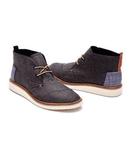toms black chukka boots