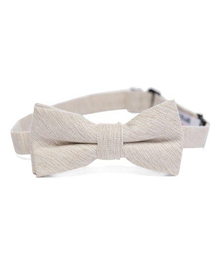 0a278921b1f52 Isaac Mizrahi Cream Linen Bow Tie
