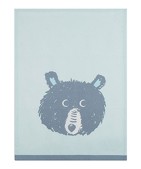 Peking Handicraft Light Blue Bear Kitchen Towel - Set of Two