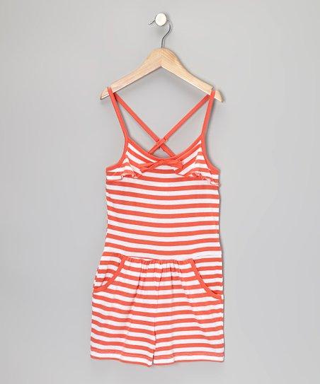 dd26570b414d love this product Mango   White Stripe Romper - Girls