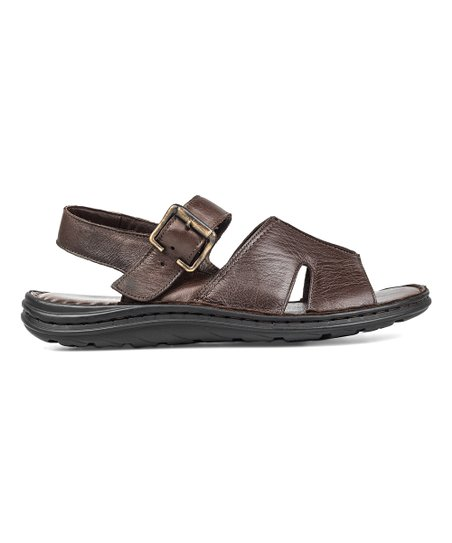 b9e3fa1138a love this product Brown Ankle-Strap Leather Sandal - Men