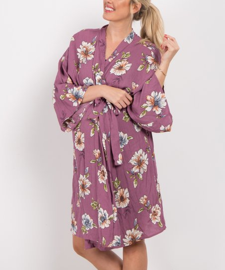 25dad852bad love this product PinkBlush Purple Floral Delivery Nursing Maternity Robe