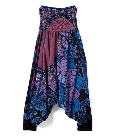9aec2fb24b6f Aller Simplement Blue   Black Floral Convertible Romper