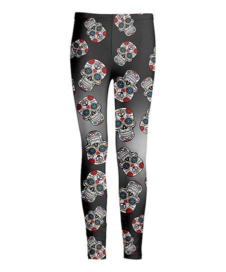 3295a128e08b6 love this product Black & Red Sugar Skull Leggings - Women & Plus