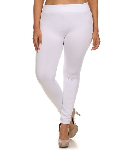 5c77d24a50eb1 love this product White Fleece-Lined Seamless Leggings