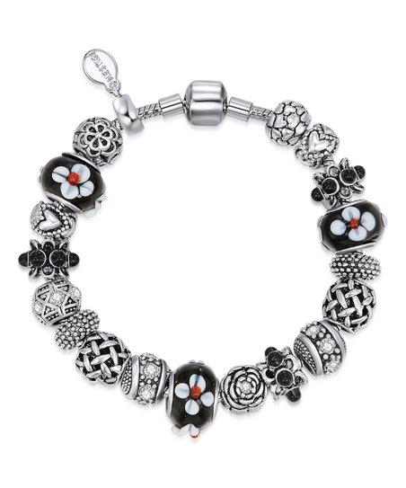 f68563e8dd221 Mestigé Black & Silvertone Daring Bracelet With Swarovski® Crystals