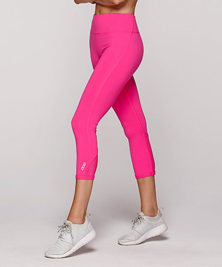 e50d74eb8065c9 Lorna Jane Neon Pink Diva 7/8 Leggings - Women | Zulily