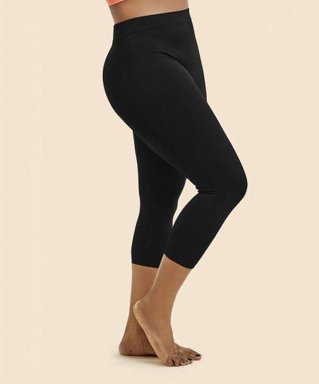 0ca569d3cfccc3 Fashionomics Black Capri Leggings - Juniors   Zulily