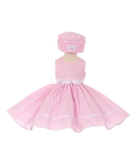 41b0cdb7ec love this product Pink Gingham Bow-Accent A-Line Dress   Pillbox Hat