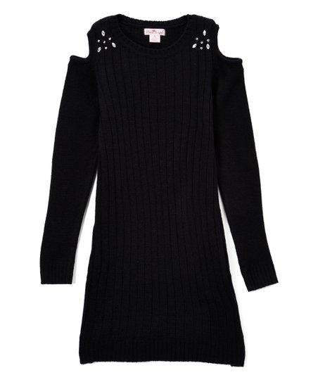 Black Sweater Dress for Girls