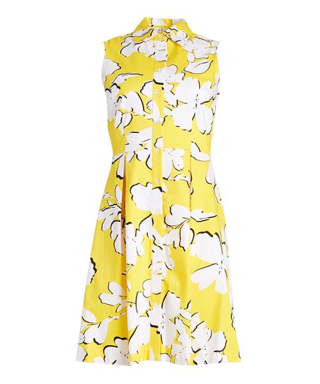1ee011d96f67 love this product Yellow   White Floral Shirt Dress - Women