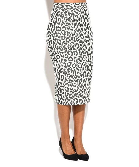 e2f6b173384 love this product Off-White Leopard Print Pencil Skirt - Plus