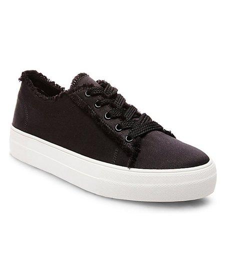 23cc880092b Steve Madden Black Greyla Satin Sneaker