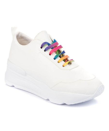 fox shoes White Rainbow-Lace Sneaker
