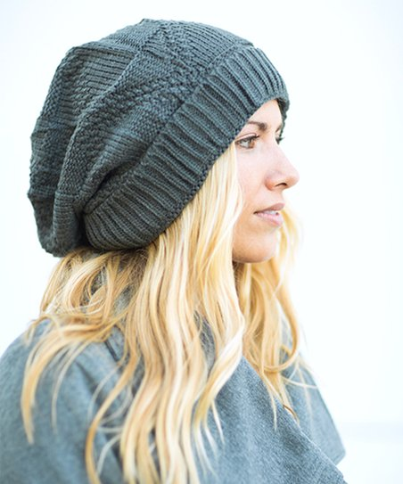 5b49a533850 love this product Charcoal Waffle-Knit Beanie - Women