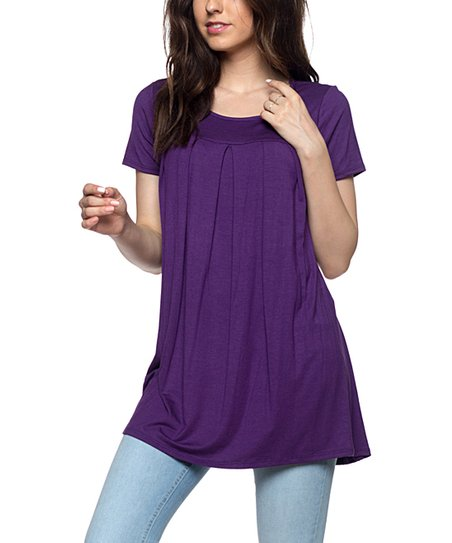 4c823a316e634 love this product Plum Pleat-Front Tunic - Women