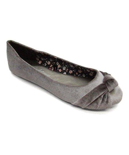 f94d3cbbcc495 Blue Suede Shoes Gray Ziggs Ballet Flat - Women