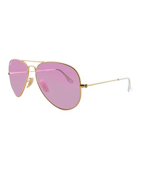 8d09ec4528 love this product Pink Lens Polarized Aviator Sunglasses - Women