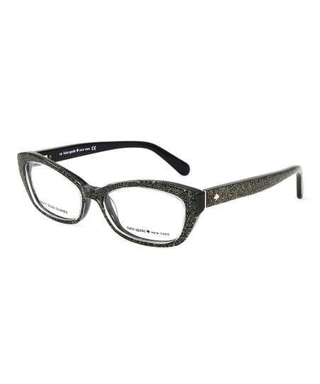7b32de6e56 Kate Spade Black   Gold Glitter Cristi Eyeglasses