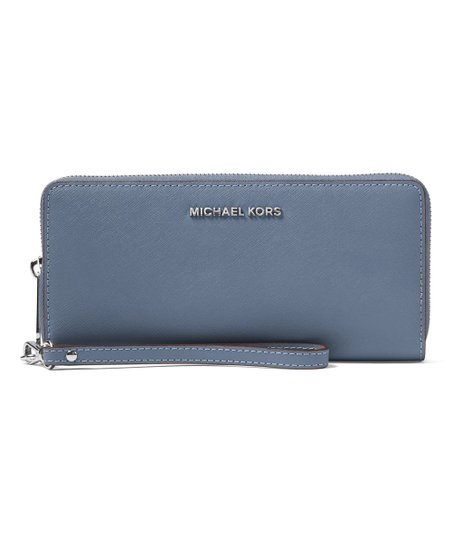 452c25f0822a Michael Kors Denim Jet Set Travel Saffiano Leather Continental ...