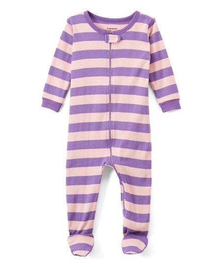 43bea4356f love this product Pink Stripe Organic Cotton Footie Pajamas - Infant