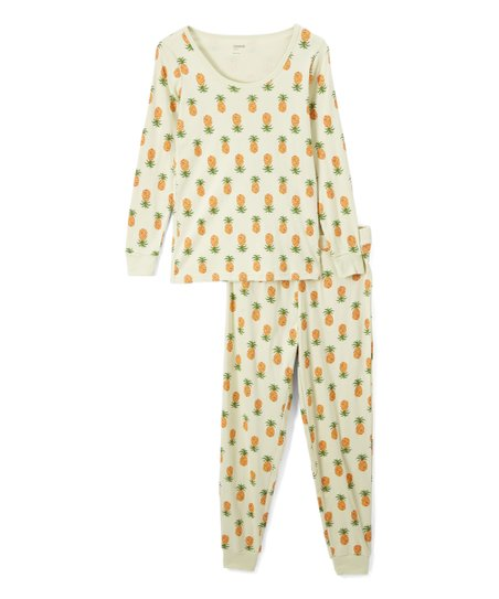 b198b1b753c2 love this product Yellow Pineapple Organic Cotton Pajama Set - Women
