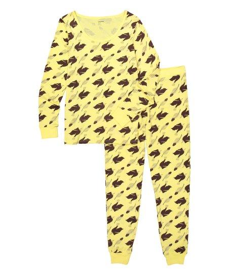 2a925405e3b9 love this product Pale Yellow Eagle Organic Cotton Pajama Set - Women