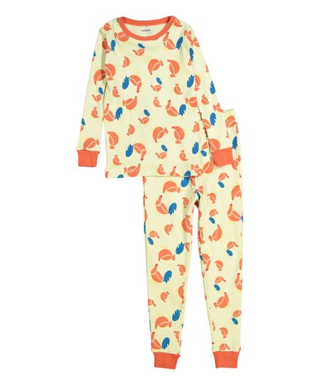 5dac19a1dd6d love this product Yellow   Orange Chicken Organic Cotton Pajama Set -  Infant   Kids