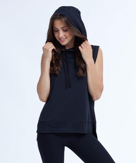 6226760fb6d09 love this product Black Score Sleeveless Hoodie - Women