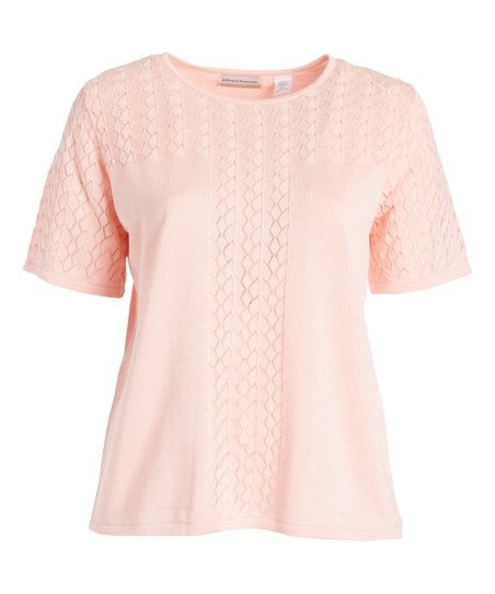 3a6d48c77 Alfred Dunner Blush Pointelle-Knit Sweater - Plus | Zulily