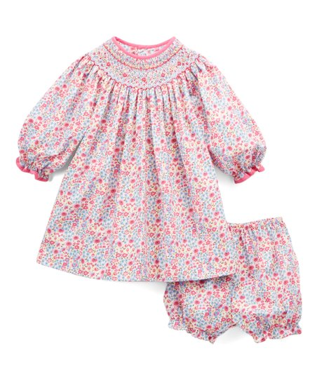 3c4a840973d4 Petit Ami Magenta Floral Smocked Dress   Bloomers