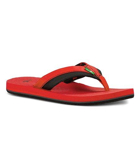 69d5da2ee love this product Red   Black Rootbeer Cozy Light Flip-Flop - Kids