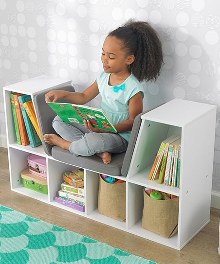Kidkraft White Bookcase Reading Nook Zulily