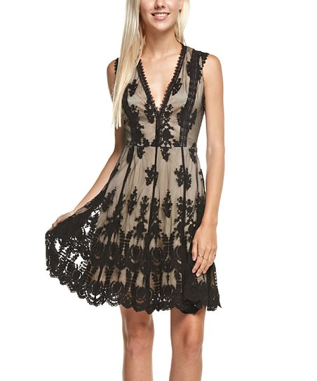 29978e9ae87 My Yuccie Black Lace Overlay V-Neck Dress