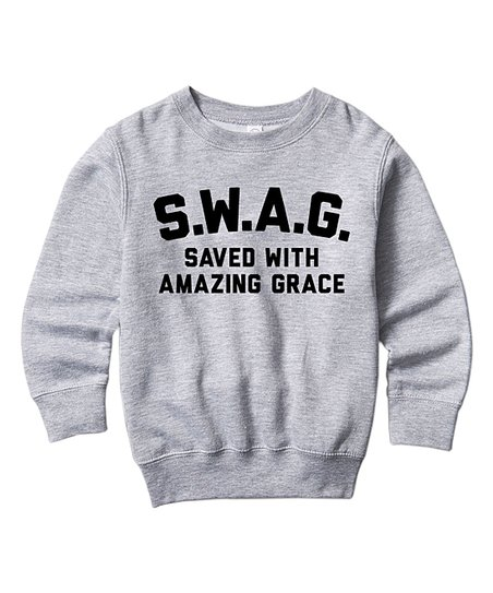 97dfb3aebf1f love this product Athletic Heather  S.W.A.G.  Crewneck Sweatshirt - Toddler    Kids