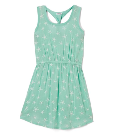 150e570e8572 Splendid Light Green Starfish Sleeveless Skater Dress - Girls