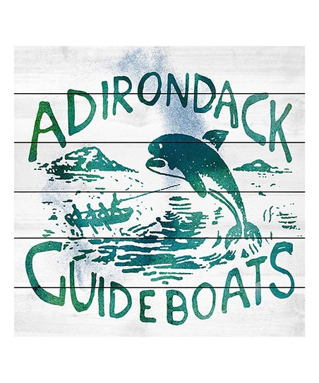 Marmont Hill Adirondack Guide Boats Painting Wood Wall Art