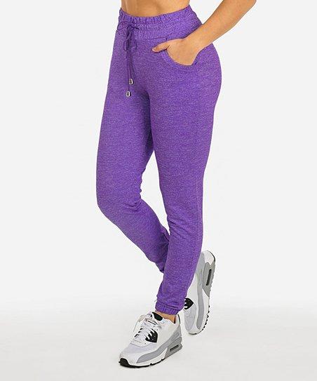 b0fcf0c06ed Moda Xpress Purple Joggers