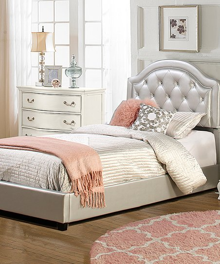 Silver Tufted Karley Bed by Zulily