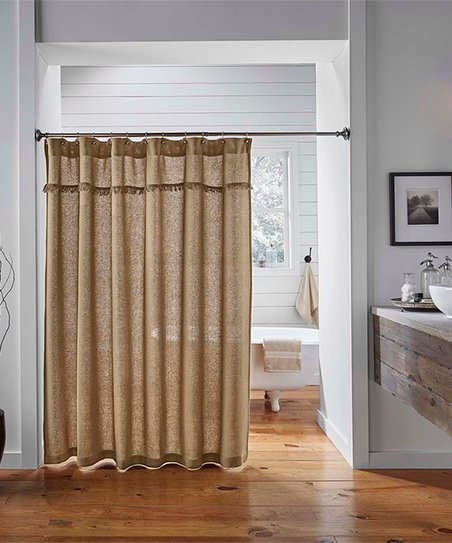 Natural Burlap Shower Curtain