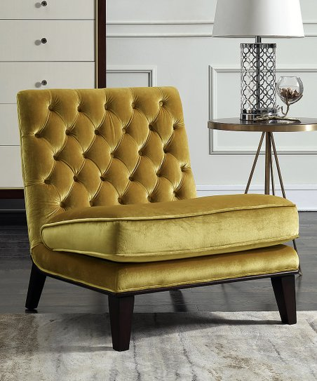 Wondrous Gold Tufted Accent Chair Creativecarmelina Interior Chair Design Creativecarmelinacom